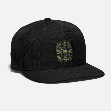 American NATIVE AMERICAN EARTH IS MY CHURCH NATURE IS MY - Snap-back Baseball Cap