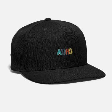 Attention Deficit Disorder ADHD Awareness Retro Vintage Distressed Gift - Snap-back Baseball Cap