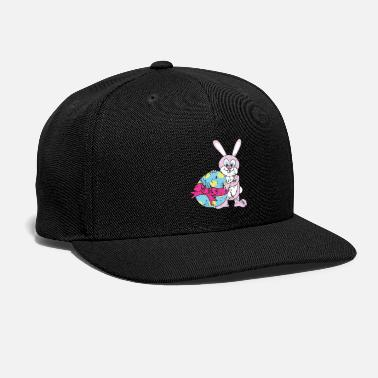 Chick Retro Vintage Grunge Style Easter Bunny - Snap-back Baseball Cap