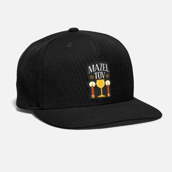 Yiddish Caps - bar mitsva bar mitzva bar mitsve sayings - Snapback Cap black