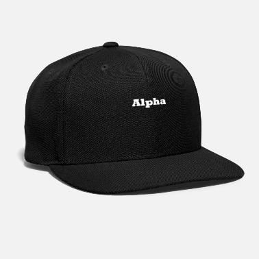 Alpha Alpha - Snap-back Baseball Cap