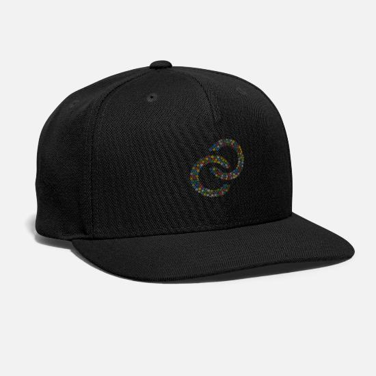 Christmas Caps - Snow Wordcloud of a wedding rings form (christmass - Snapback Cap black