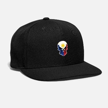 Filipino Flag Filipino Flag Skull - Snapback Cap