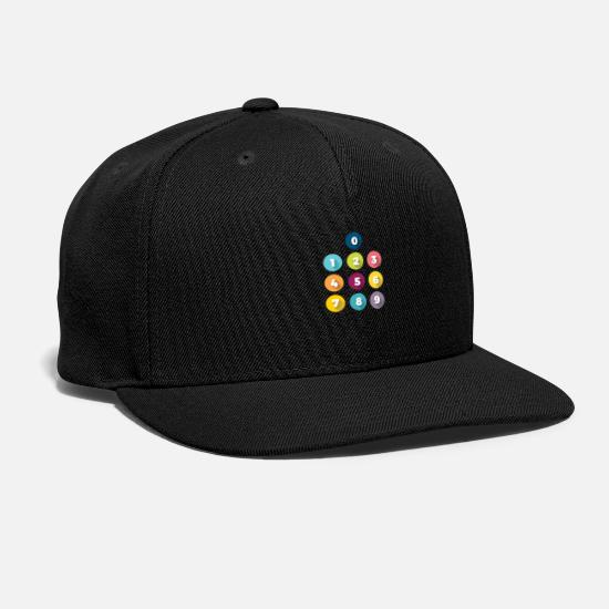 Phone Caps - mobile dial pad - Snapback Cap black