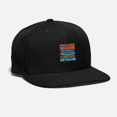 Hockey Ice Skate - Snap-back Baseball Cap
