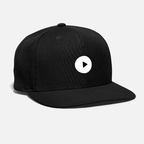Dj Caps - Play Icon Gift Idea - Snapback Cap black