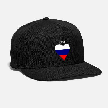 My Favorite Country I love Russia, Gift idea, Russian Flag - Snapback Cap