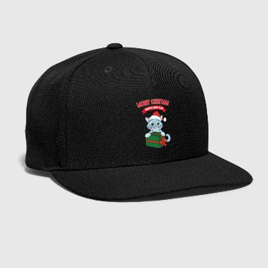 Ugly Christmas Xmas Gifts Cat Kitten - Snap-back Baseball Cap