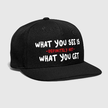 Php wysiwyg / what you see is what you get 2c - Snap-back Baseball Cap