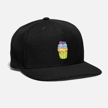 Party Retro Vintage Grunge Style Cupcakes Muffins - Snap-back Baseball Cap