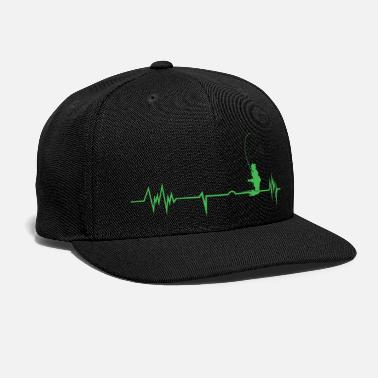 Fisherman Funny Fisherman - Heartbeat Love - Cast Humor - Snapback Cap