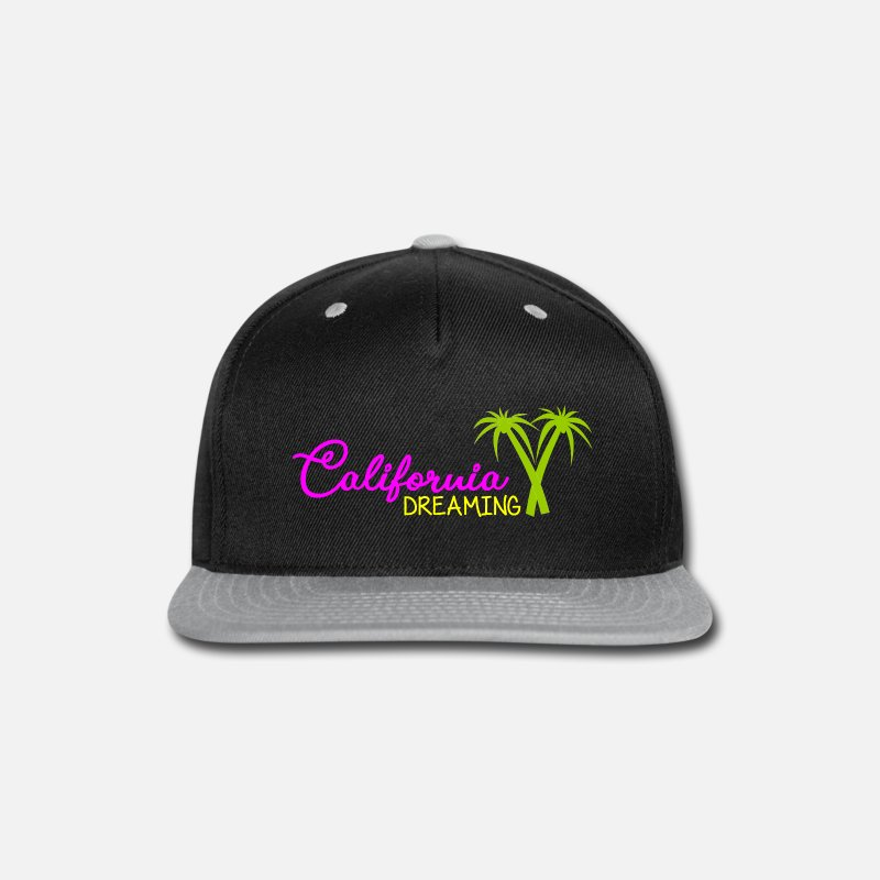 6174eacc698 California Dreaming - Beach - Palm Trees Snapback Cap