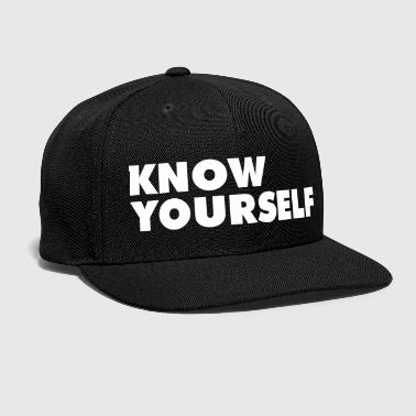 Know Yourself - Snap-back Baseball Cap