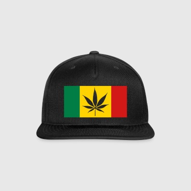 Rasta Canada flag - Snap-back Baseball Cap