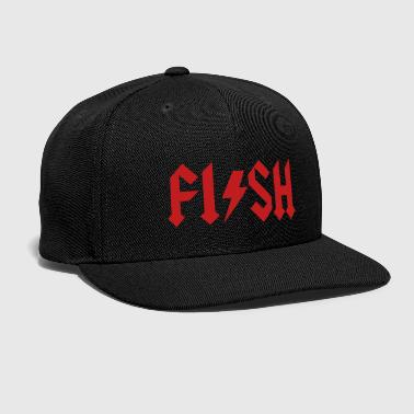 Hard Rock FISH - fishing Hard Rock Metal music fisherman - Snap-back Baseball Cap