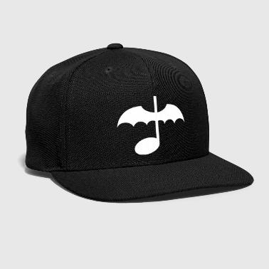 Music Note with Bat Wings - Snap-back Baseball Cap