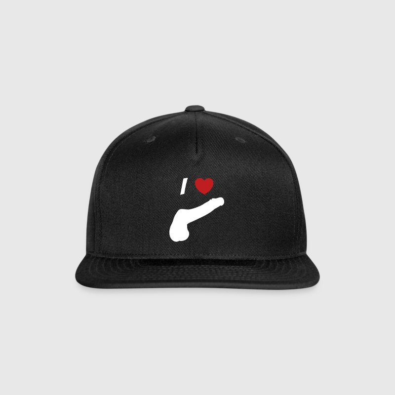 I love cock - Snap-back Baseball Cap