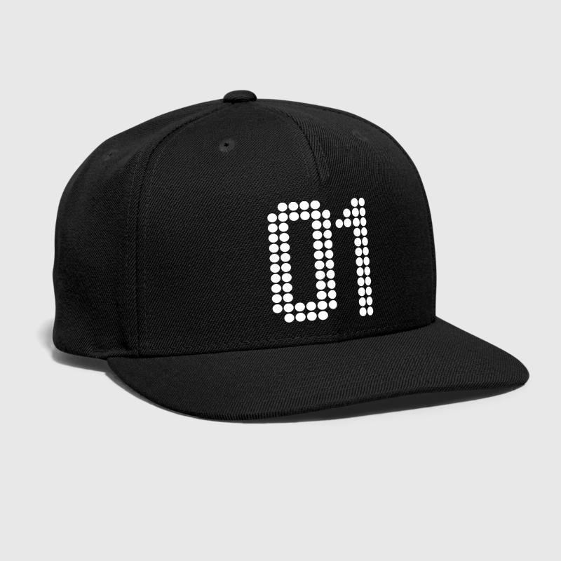 01, Numbers, Football Numbers, Jersey Numbers - Snap-back Baseball Cap