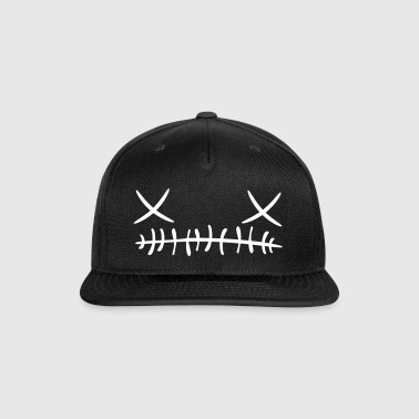 Cross stitch Face Cap (White) - Snap-back Baseball Cap