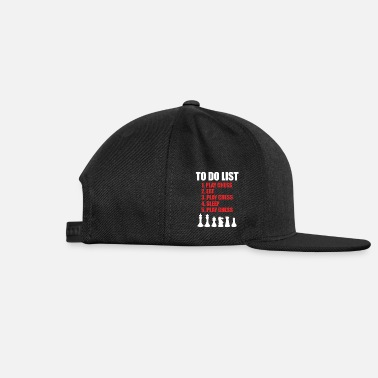 Chess To Do List Eat Play Chess Sleep Board Classic - Snapback Cap