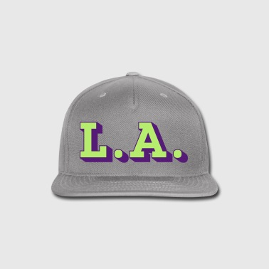 LA Los Angeles 3D - Snap-back Baseball Cap
