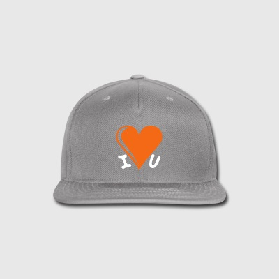I love you - heart - Snap-back Baseball Cap