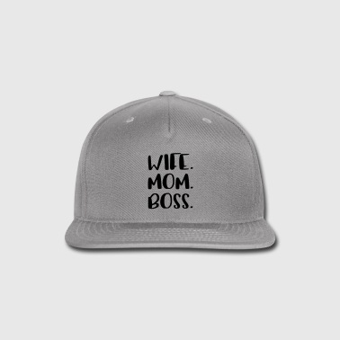 Wife Mom Boss Design - Snap-back Baseball Cap
