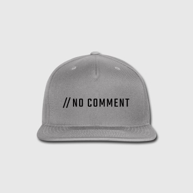 // NO COMMENT - uppercase - Snap-back Baseball Cap