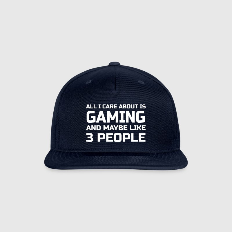 Care about Gaming - Snap-back Baseball Cap