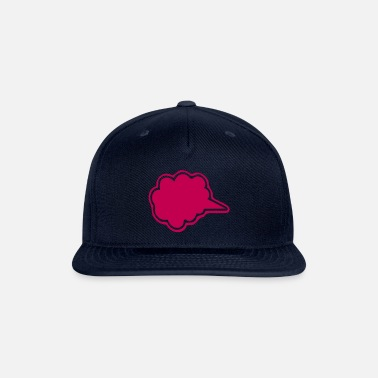 Lovely-strawberry-pink-fleecy-cloud-speech-bubbles ۞»♥Vector Fluffy Cloud Shape Speech Bubble♥«۞ - Snapback Cap