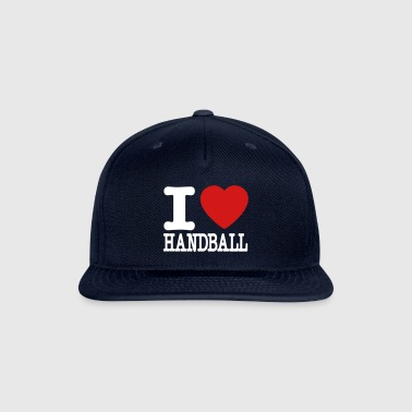 i love handball heart - Snap-back Baseball Cap