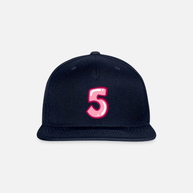 5 Number 5 color, 5th birthday, 5 year old - Snapback Cap