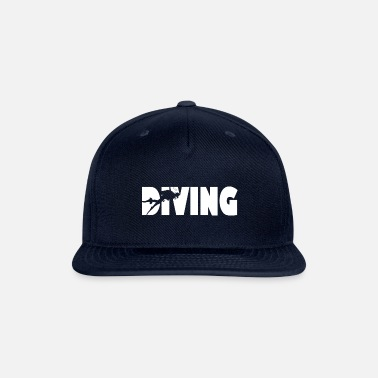 Scuba Diving Diving Diver Dive Art - Snapback Cap