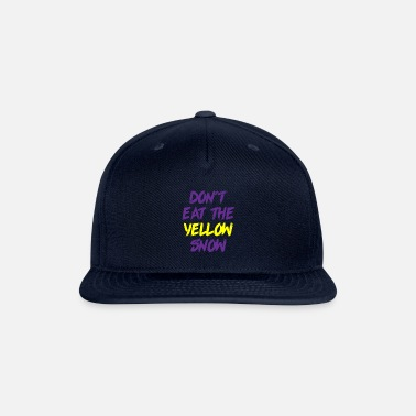 Switzerland Yellow snow skiing winter gift holiday - Snapback Cap
