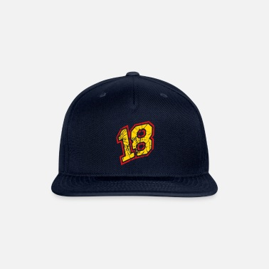 Eighteen 18 colorful scratch cracks party number eighteen l - Snapback Cap