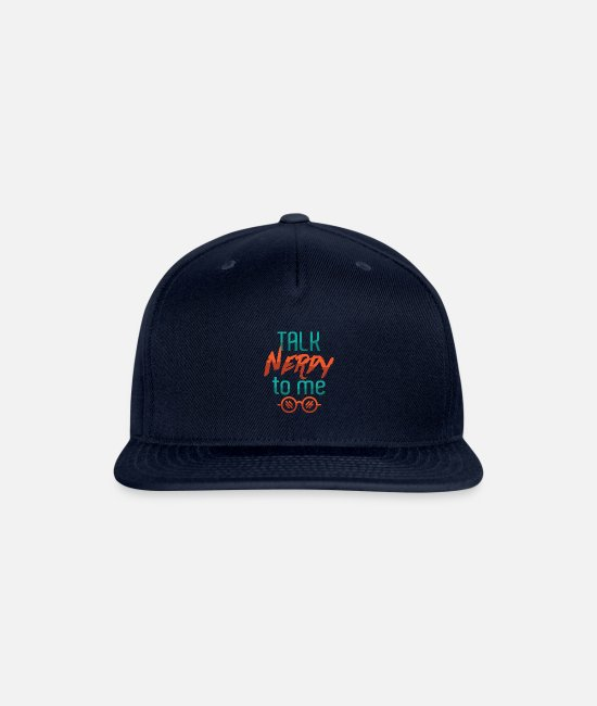 Clever Caps & Hats - speech nerdy - Snapback Cap navy
