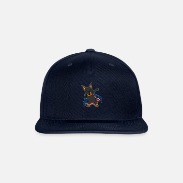 Stars And Stripes Dabbing Doberman Dobie 4th July Independence Day - Snapback Cap