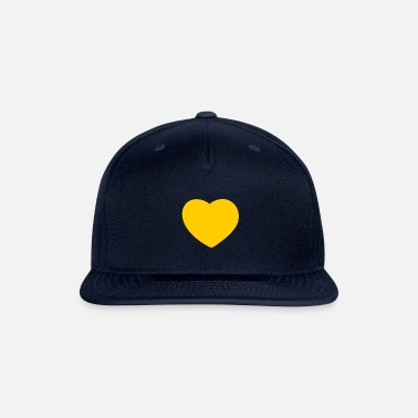 Yellow Heart yellow - Snapback Cap