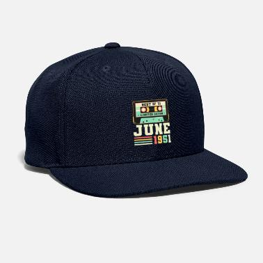 Year Of Birth 70th Birthday June Gift Vintage 1951 70 Years - Snapback Cap