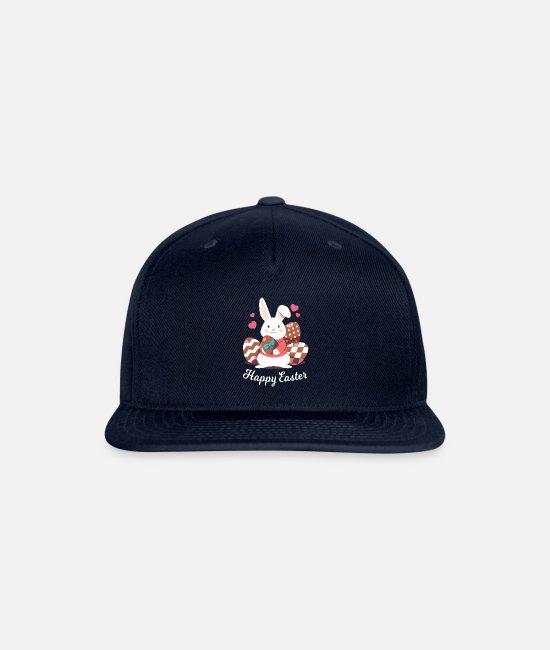 Easter Caps & Hats - Happy Easter 93 - Snapback Cap navy