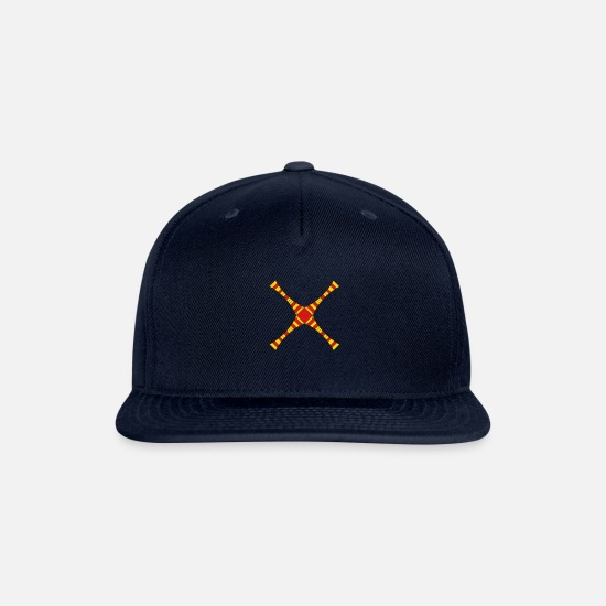 Jesus Caps - colorful lines abstract x cross stripes strokes de - Snapback Cap navy