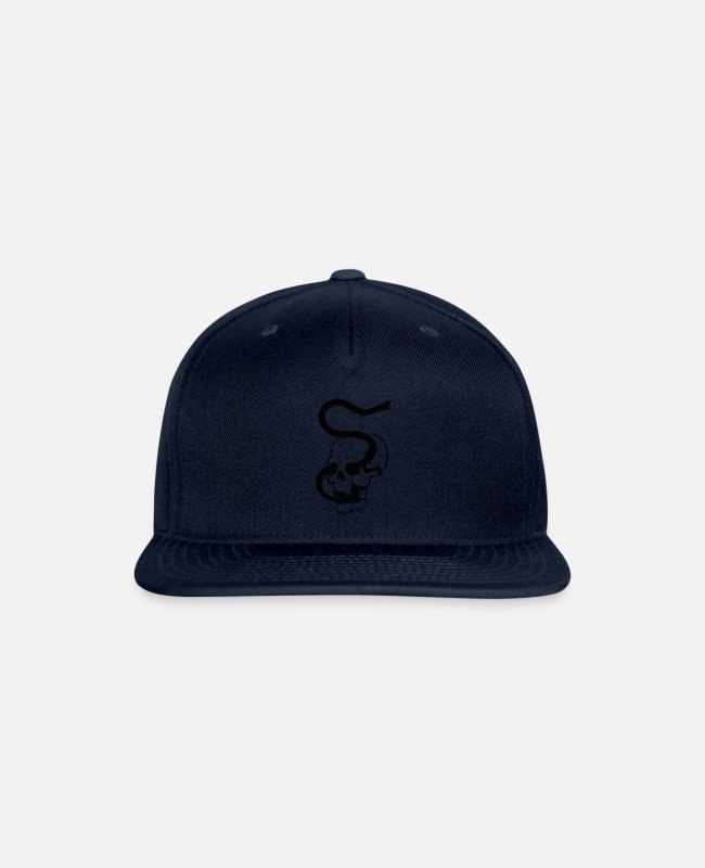 Skull And Crossbones Caps & Hats - snake skull - Snapback Cap navy