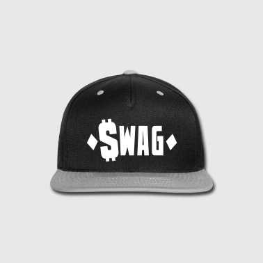 swag $WAG with dollars and diamonds - Snap-back Baseball Cap