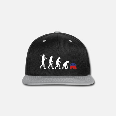 Election Campaign Evolution Backward Republicans election campaign - Snapback Cap