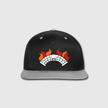 A BURNING Bridge with fire - Snap-back Baseball Cap