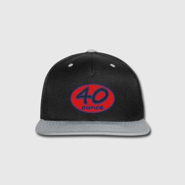 40 Ounce Racer Skate Logo for Hats and Caps - Snap-back Baseball Cap