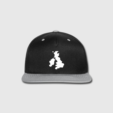 LONDON uk Scotland wales and United KINGDOM map - Snap-back Baseball Cap
