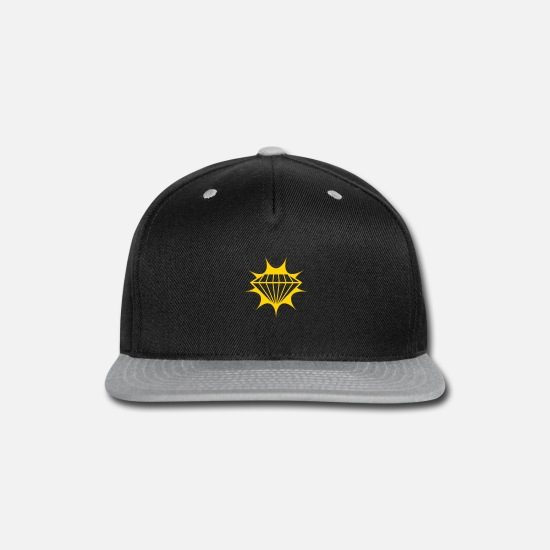 Jewelry Caps - gold ruby diamond gemstone precious rich rays clun - Snapback Cap black/gray