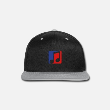 Singer red blue button music note cool silhouette sign pa - Snapback Cap