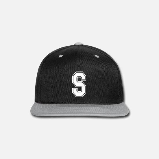 L Initial Baseball Cap Adjustable Custom Print Colour Text Hat Alphabet Letter